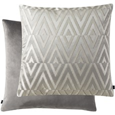 Geometric Rectangle Cushion - Silver