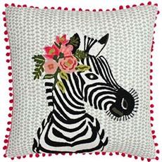Funky Zebra Square Cushion