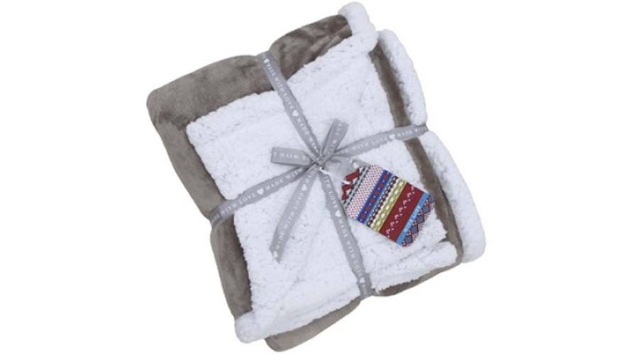 Lux Throw Sherpa Fleece - Mocha