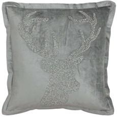 Wonderland Stag Square Cushion - Silver