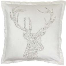 Wonderland Stag Square Cushion - White