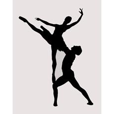 Balerina Silhouette Framed Print