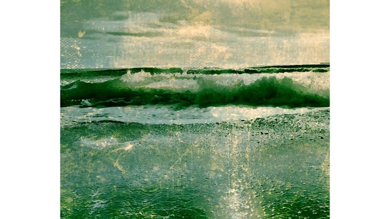 Aqua Green II Framed Print