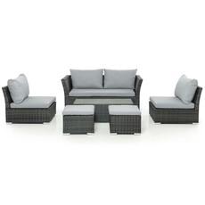 Eden Flatweave 6 Piece Hideaway 2 Seater Sofa Set