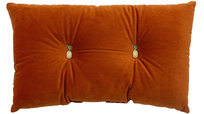Pineapple Cushion - Rust