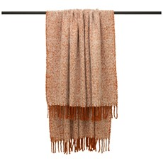 Weaver Herringbone Throw - Rust