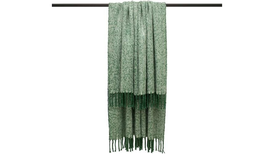 Weaver Herringbone Throw - Green
