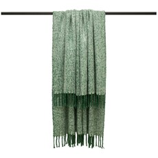 Weaver Herringbone Throw - Green