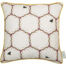 Chateau Honeycomb Cushion - White