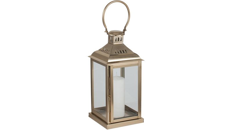 Nickel & Glass Champagne Lantern