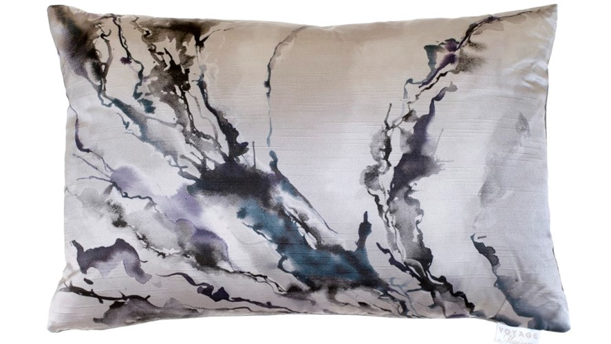 Abstraction Boudoir Ink Cushion - Smoke