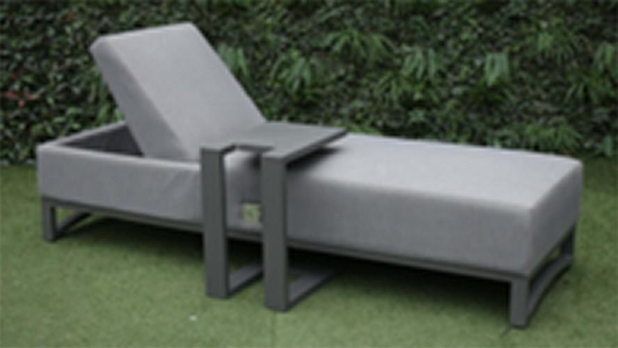 Venus Sunlounger & Side Table Set