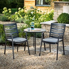Aluminium Saturn Pewter 2 Seater Bistro Set