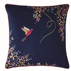 Sara Miller Hummingbird Navy Feather Filled Cushion
