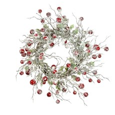 Frosted Berry Willow Wreath