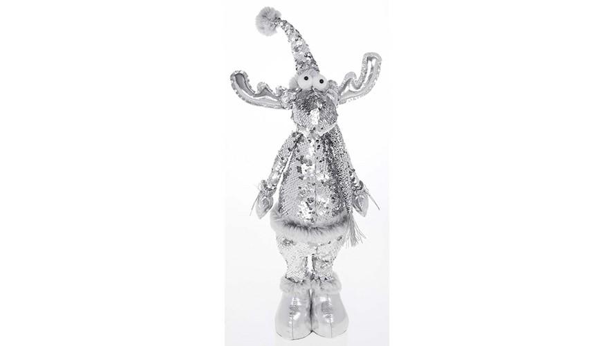 Silver Sequin Standing Deer