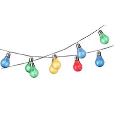 Solar Flashing Effect String Lights - Multicoloured