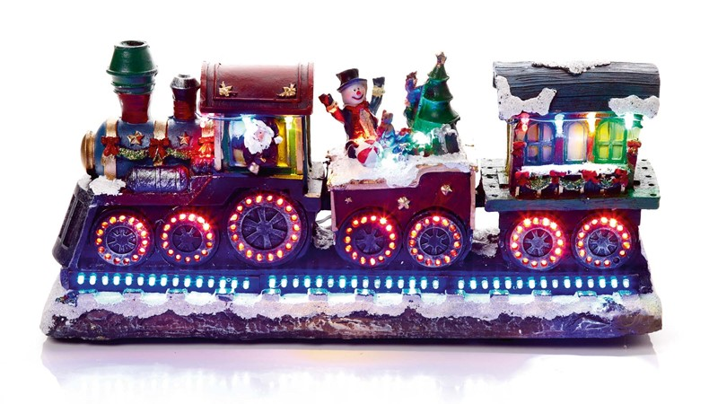 LED Rotating Christmas Train