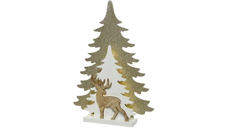 LED Deer with Tree Ornament