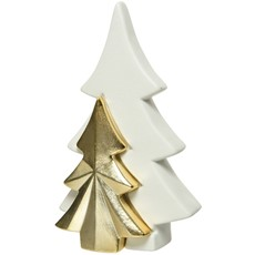 Two Piece White Gold Tree Ornament