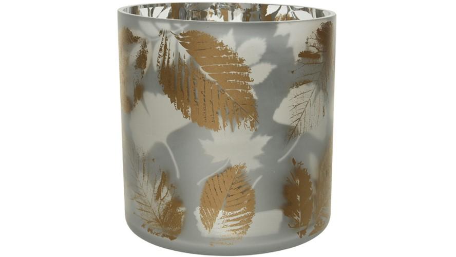 Hurricane Gold Leaf Vase