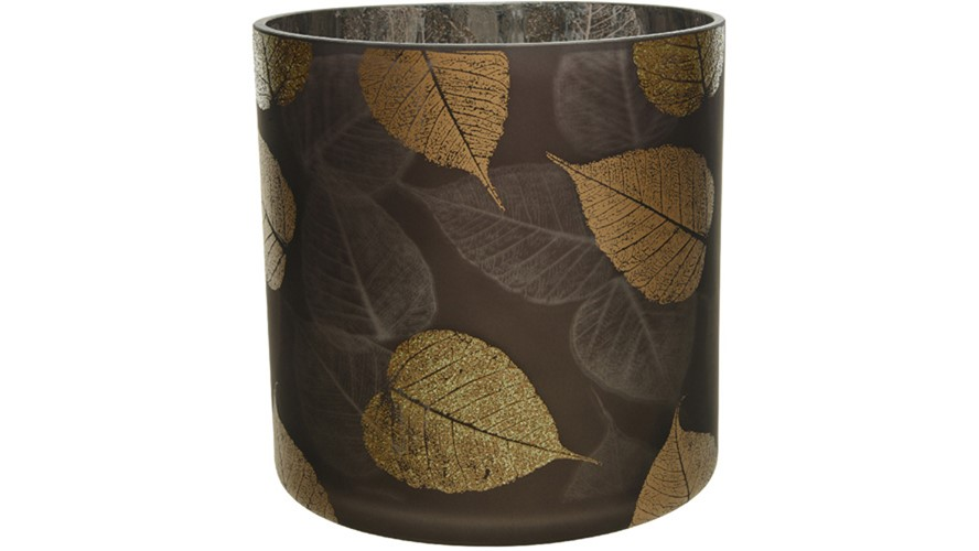 Hurricane Glitter Leaf Vase