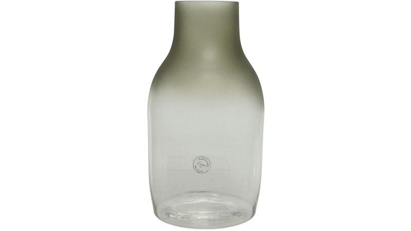 Irregular Oval Frosted Vase - Green