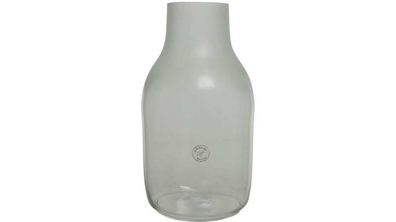 Irregular Oval Clear Vase