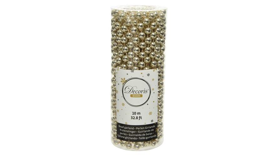 Plastic Bead Garland - Champagne