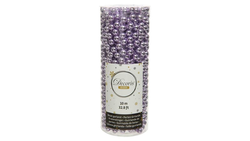 Plastic Bead Garland - Frosted Lilac