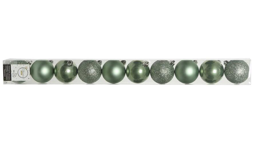Plain Shatterproof Baubles - Sage Green