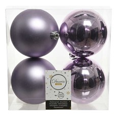 Shiny & Matt Baubles - Frosted Lilac