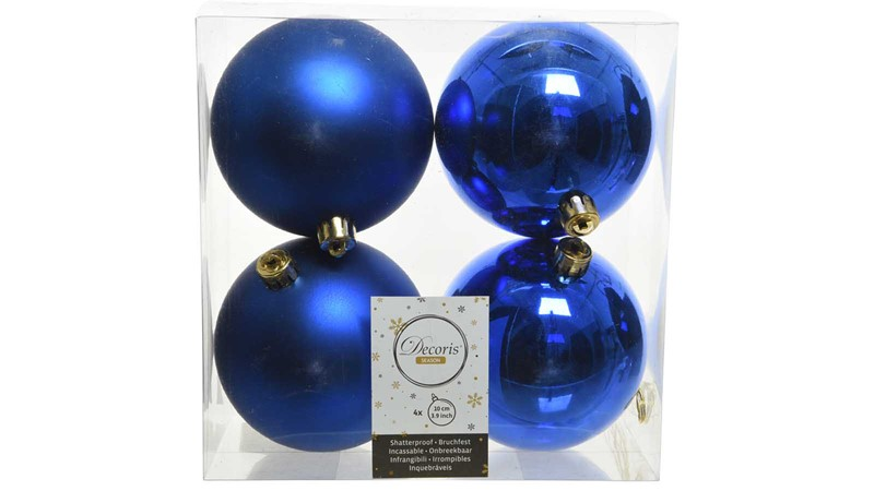 Shiny & Matt Baubles - Royal Blue