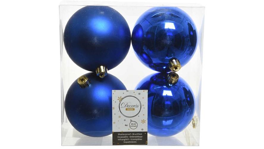 Shiny & Matt Baubles - Royal Blue