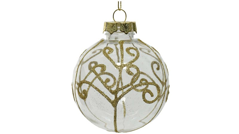 Glitter Decorated Bauble