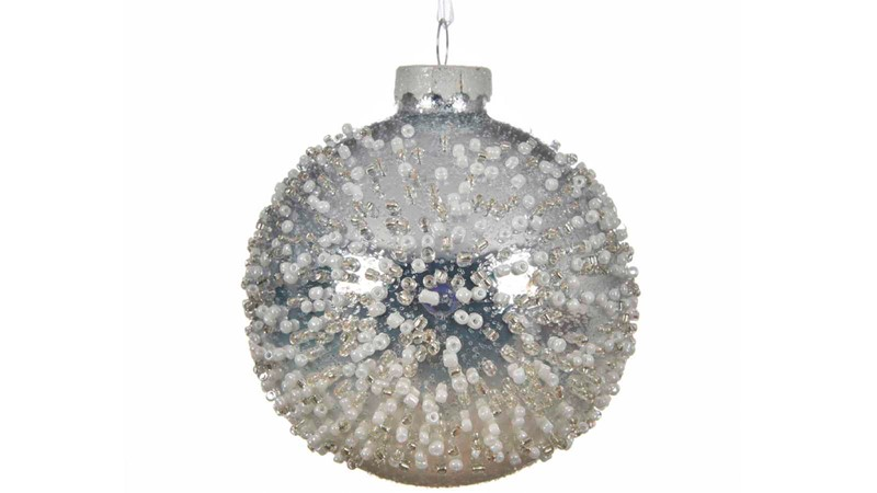 Glass Bauble with Colorflow Glitter
