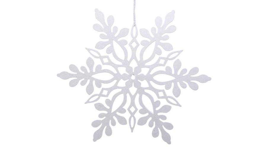 Snowflake Bauble - White