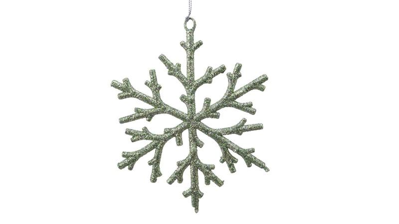 Snowflake Bauble - Sage Green