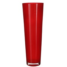 Leoni Glass Red Conical Vase