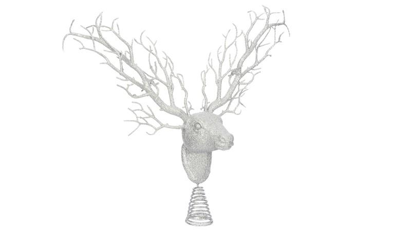 Silver Tree top Deer Head Silver