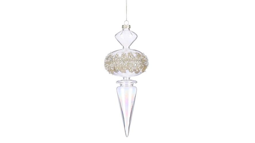 Small Drop Ornament - Transparent