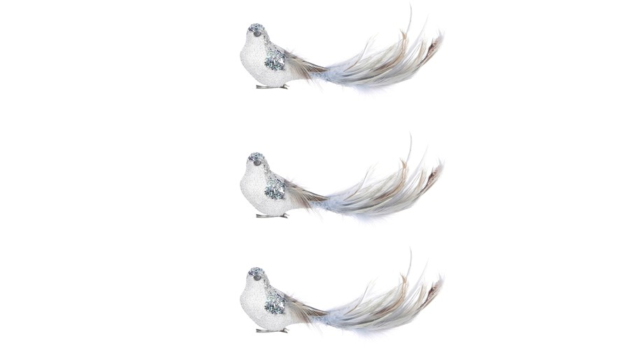 Bird Clip Blue 3 Pieces