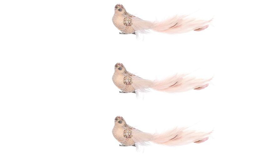 Bird Clip Pink 3 Pieces