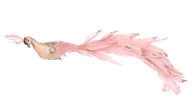 Peacock Clip Pink