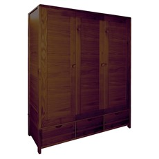 Ercol Bosco Dark 3 Door Wardrobe