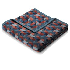 Abstract Design Throw Navy Rust With Binding