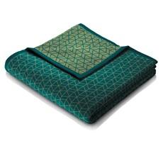 Trellis Design Throw Teal Green With Binding