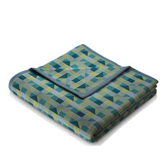 Abstract Design Throw Teal Green With Binding