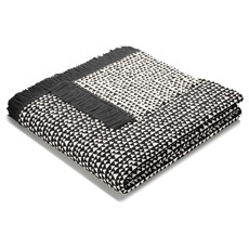 Triangles Design Throw Grey Natural With Fringes