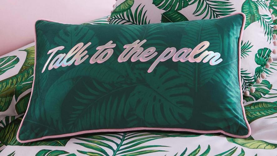 Skinny Dip Talk to The Palm Cushion